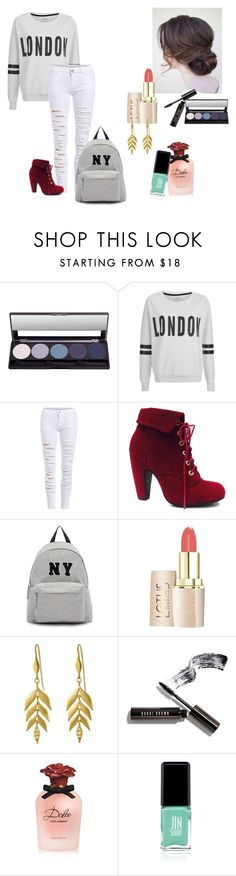 """Love"" by amandavitoriaavila on Polyvore featuring moda, ONLY, Joshua's, Bobbi Brown Cosmetics, Dolce&Gabbana e Jin Soon"