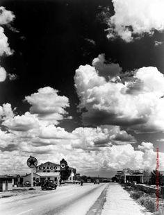 Andreas Feininger, Route 66, Seligman, Arizona 1947, Gelatin Silver