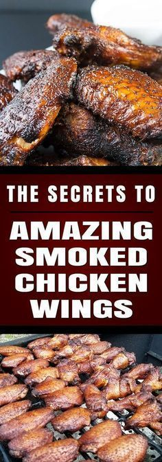 SMOKER -- Amazing Smoked Chicken Wings - The Secrets to making amazingly delicious smoked wings with step by step instructions. These will be a smashing success at any kind of get-together. Traeger Recipes, Smoked Meat Recipes, Grilling Recipes, Smoked Pork, Venison Recipes, Rib Recipes, Sausage Recipes, Chicken Wing Recipes, Grilled Chicken Recipes