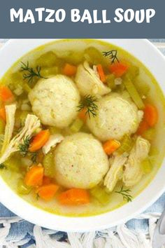 Warm and cozy, Matzo Ball Soup always fills you with warm fuzzies. This version is easy, uncomplicated, and perfect for beginners. Instapot Soup Recipes, Quick Soup Recipes, Creamy Soup Recipes, Broccoli Soup Recipes, Beef Soup Recipes, Cauliflower Soup Recipes, Crockpot Recipes, Soap Recipes, Matzo Ball Soup Recipe