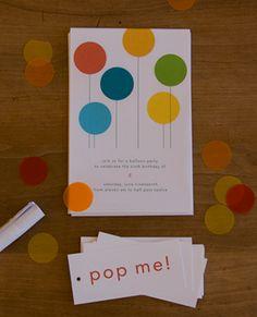 a balloon party - the invites Invitaciones para fiesta Birthday Balloons, 1st Birthday Parties, Balloon Party, 21st Party, Party Party, 2nd Birthday, Birthday Ideas, Happy Birthday, Helium Filled Balloons