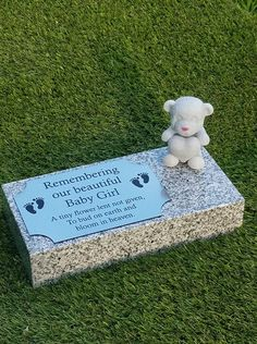 Personalised Grey Granite Memorial Grave Plaque (Price includes personalisation) This listing is for polished high quality granite Grey in colour. (Stone size The granite is thick All four edges of the granite are polished, providi. Flat Headstones, Grave Headstones, Flat Grave Markers, Grave Plaques, Memorial Garden Stones, Memorial Markers, Church Wedding Flowers, Famous Graves, Granite Colors