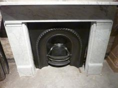 GBP1500 Original marble straight fireplace   Renaissance
