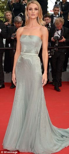 Ships crossing in the night: Rosie arrived at Cannes after her boyfriend Jason Statham had finished his promotion of The Expendables 3