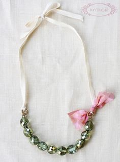 DIY necklace.