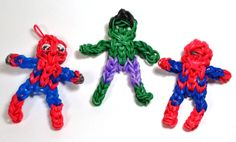 Rainbow Loom spiderman and hulk