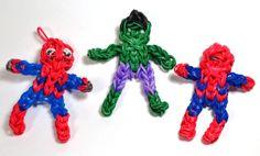 Rainbow Loom spiderman and hulk