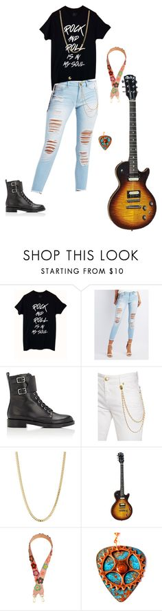 """Rock And Roll Is In My Soul"" by dance4ever1222 ❤ liked on Polyvore featuring Refuge, Gianvito Rossi, Pierre Balmain and Bianca Pratt"