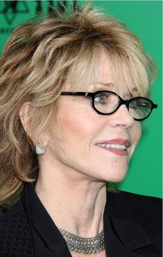 hairstyles for women over 60 with glasses...