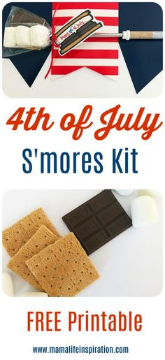 Fourth of July - Everything you need to host the best Fourth of July party - Smores- S'mores - DIY S'mores - 4th of July dessert - 4th of July party - Camping S'mores