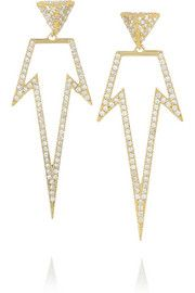 Bermuda 18-karat gold diamond earrings