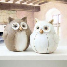 Deko Eule Keramik VE = 4