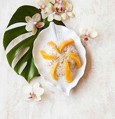Mangon kanssa nautittava Sticky rice on todella suosittu jälkiruoka Thaimaassa.