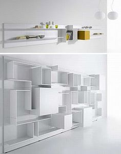 House & Home: White Shelf Furniture Design as Home Decor Abstract