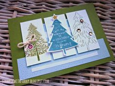 stampin up o tannenbaum weihnachten xmas freude im advent peaceful pines season of cheer karte match the sketch #stampinwithfanny