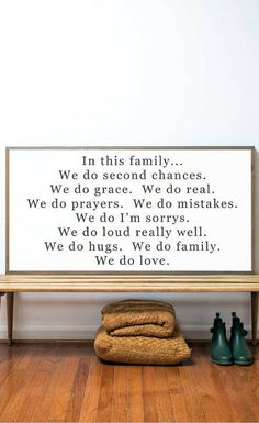 In this family sign, family quote, living room decor, rustic decor, farmhouse decor, family love quote, farmhouse sign, rustic sign, home decor, gallery wall, dining room wall decor #ad