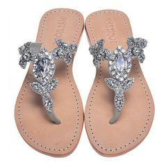 Diamond floral sandals