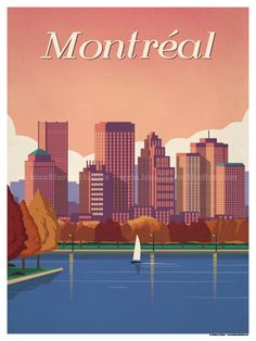 Montreal Poster by IdeaStorm Studios ©2017. Available for sale at ideastorm.bigcartel.com