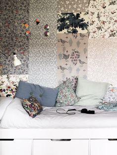 hemma hos petra bindel blanda tapeter säng förvaring mobil snyggt barnrum