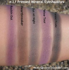 e.l.f Pressed Mineral Eyeshadow Swatches.