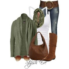 casual outfit for chic moms (id change the belt size though and the bag)