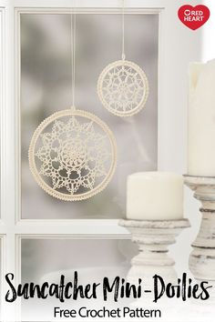 crochet mandala pattern Suncatcher Mini-Doilies free crochet pattern in Aunt Lydia's Crochet Thread. Heres a fun way to enjoy little crochet doilieshang them in a window so they Crochet Dreamcatcher Pattern Free, Free Crochet Doily Patterns, Crochet Motifs, Thread Crochet, Crochet Doily Diagram, Crochet Afghans, Crochet Blankets, Crochet Stitches, Doily Art