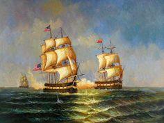 Sea Battle Scene. 40cm*50cm(16in*20in) $85.00  50cm*60cm(20in*24in) $100.00  60cm*90cm(24in'*36in) +$120.00