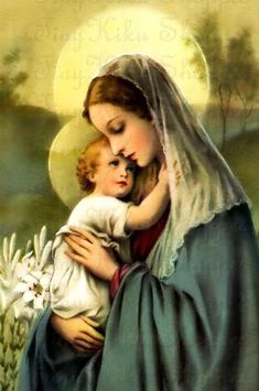 Pictures Of Mary, Images Of Mary, Blessed Mother Mary, Blessed Virgin Mary, Religious Pictures, Religious Art, Hail Holy Queen, Jesus E Maria, Queen Of Heaven