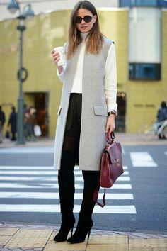 Maxichaleco: prendas que salvan #look. #fashion #style