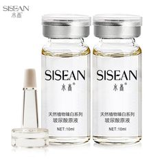 Antiaging Hyaluronic Acid ha liquid 4 bottle ampoules moisturizing whitening anti oxidation antiwrinkle night cream skincare >>> You can get more details by clicking on the image.