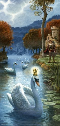 """Princess Odette ---> """"The Legend of Swan Lake"""" Art by Ruth Sanderson - From An Old Russian Fairy Tale/Ballet. Fairy Land, Fairy Tales, Fantasy World, Fantasy Art, Lake Art, Photo D Art, Fairytale Art, Swans, Swan Lake"""