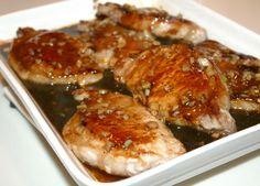 Pan Sauteed Pork Chops With Garlic-Hoisin Sauce