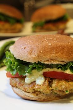 Vegetarian Chick Pea Burgers | recipe from Simply Whole Kitchen--made these last night, and they were yummy! I even got my husband to eat them