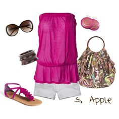 Magenta by sapple324 on Polyvore featuring polyvore, fashion, style, By Malene Birger, Abercrombie & Fitch, BP., Avalaya, Givenchy and HOBO