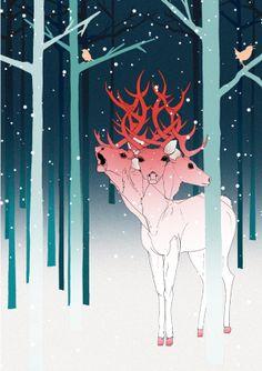 Christmas Promo 2011 by Ramona Ring, via Behance