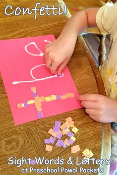 Confetti Sight Words & Letter Activity | Preschool Powol Packets...