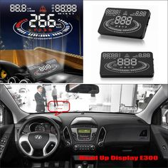 65.00$  Buy now - http://alixgy.worldwells.pw/go.php?t=32790066669 - Vehicle HUD Head Up Display For Hyundai ix35 / Tucson 2009~2016 - Safe Driving Screen Projector Refkecting Windshield