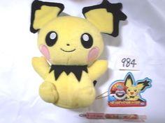Takara Tomy Pokemon Plush Doll giza Pichu 피츄 shopper plastic bag With gifts  #TakaraTomy