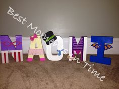 Custom Doc Mcstuffin letters for birthday Wooden Letters For Nursery, Letter Art, 2nd Birthday, Kids Rugs, Lettering, Crafts, Home Decor, Manualidades, Decoration Home