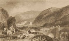 Rievaulx Abbey Yorkshire, antique print, an engraving from circa 1880 after the original painting by J M Turner. North Yorkshire, Yorkshire England, Antique Prints, Is 11, Original Paintings, National Parks, Antiques, Gallery, Art