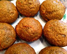 Therese's Favorite Toddler Muffins (She said you can sub avocado for banana and chia for bran.)