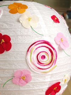 Totally going to do this to the paper lantern in my girls room.