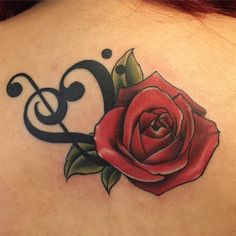 35 Incredible Music Tattoo Ideas and Designs - Notes, Instruments, Hearts