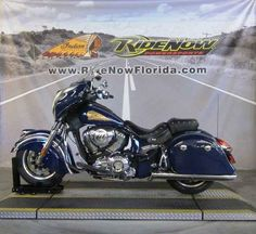 Used 2014 Indian Chieftain Springfield Blue Motorcycles For Sale in Florida,FL. 2014 Indian Chieftain Springfield Blue, RNI<br /> <br /> 2014 Indian® Chieftain Springfield Blue <p> NEW LOOK. SAME SOUL. The 2014 Indian® Chieftain is in touch with its past, but far ahead of its time. It s the first Indian Motorcycle® ever with a hard fairing, hard saddlebags and unprecedented new comfort and convenience features. It s like no Indian Motorcycle® ever seen before, yet its style makes clear…