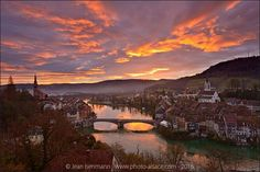 Le Rhin à Laufenburg, Allemagne, Février 2016, fév. 2016 Alsace, River, Outdoor, Dawn, Germany, Outdoors, Rivers, The Great Outdoors