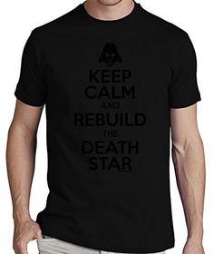 LaTostadora Camiseta Keep calm and rebuild the Death Star - Camiseta hombre clásica, calidad premium Negro Talla M #camiseta #realidadaumentada #ideas #regalo