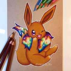 """2,151 Likes, 73 Comments - MARILYN MAE (@maeartistry) on Instagram: """"✩ Hey friends! I finally finished Eevee. I know everyone has been waiting such a long time for me…"""""""