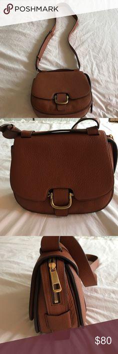 J Crew leather Saddle Bag J Crew Genuine Leather Saddle bag! J. Crew Bags Shoulder Bags