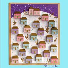 Risultati immagini per zimní městečko ve výtvarce Christmas Projects, Christmas Crafts, Christmas Decorations, Advent Wreath, School Art Projects, Preschool Themes, Art Plastique, Holiday Gifts, Art For Kids