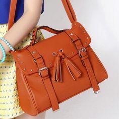 European Style Rivet Fringed Handbag Crossbody Bag